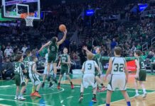 HBA game at Celtics
