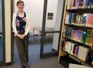 Library director Heather Backman