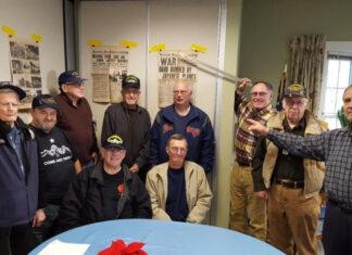 Hopkinton veterans (sitting, from left) Jim Doyle and Jeff MacMillan, and (standing, from left) Bill Mackin, Stan Feinberg, Bill Hamilton, Jack Westcott, Bob Chesmore, Bill Muench, Russ Phipps and Art Brooks
