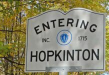 Welcome to Hopkinton sign