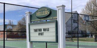 Hopkinton High School togetherness sign
