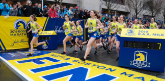 2019 Boston Marathon scholastic mile race