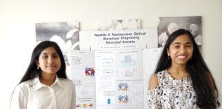 Sreeja Bolla (left) and Archita Nemalikanti