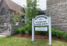 Hopkinton Library sign