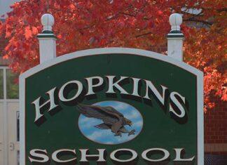 Hopkins School sign