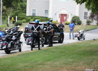 Police at Town Common 8-15-20