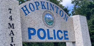 Hopkinton Police HQ sign