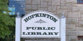 Hopkinton Public Library sign