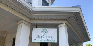 Hopkinton Public Schools sign