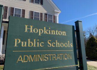 Hopkinton Public Schools Administration sign