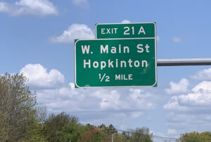 I-495 exit sign