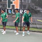 Boys tennis players