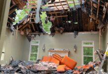 Au family fire damage