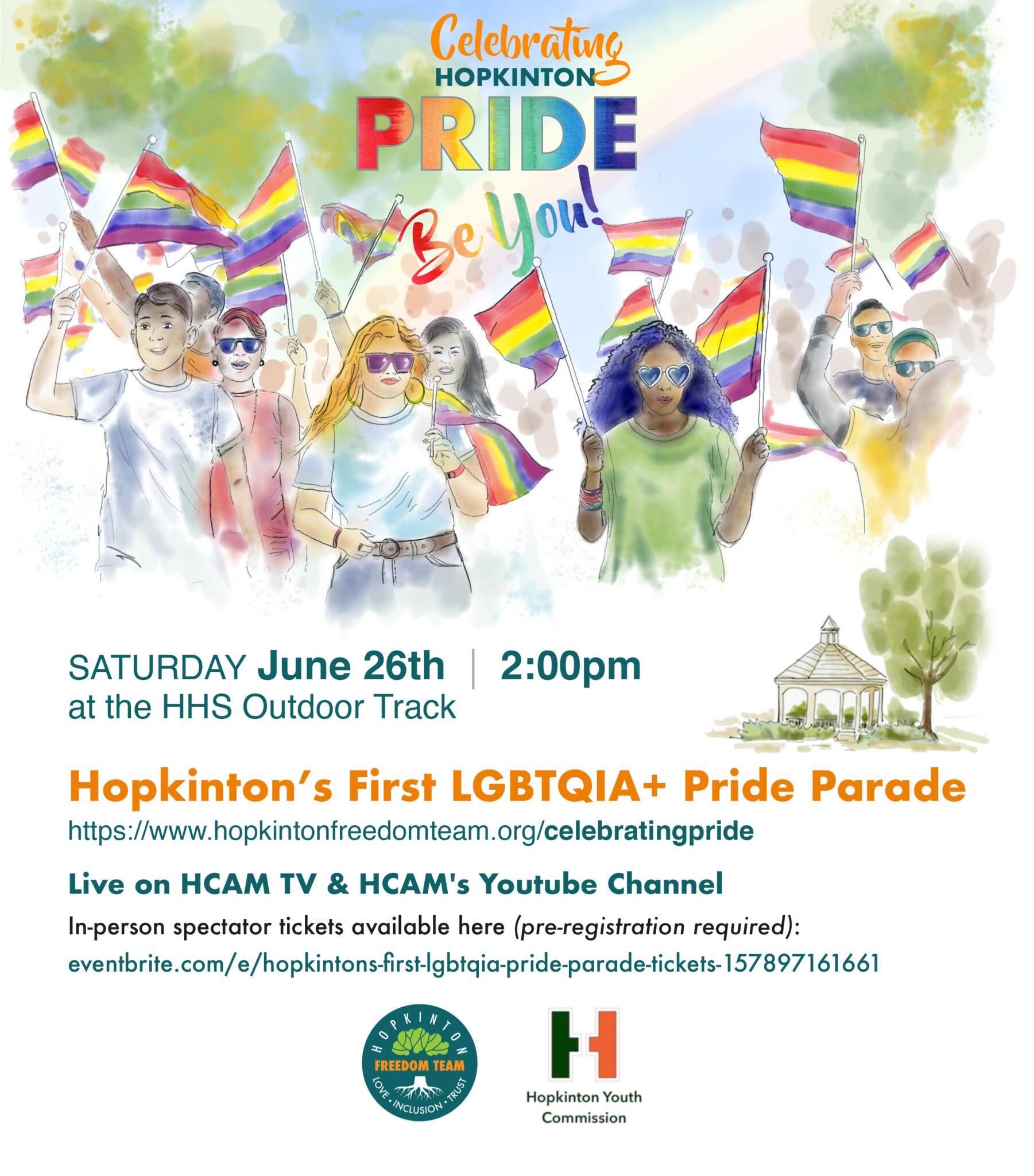 Freedom Team Pride Parade flyer