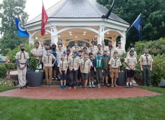 Boy Scouts Troop 1 ceremony