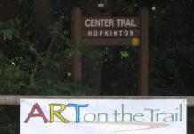 Art on the Trail sign
