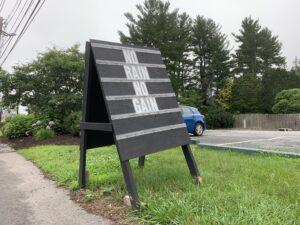 Weston Nurseries rain sign