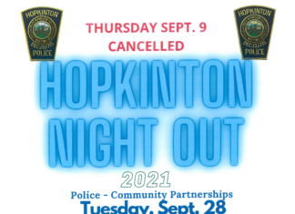 Hopkinton Night Out flyer