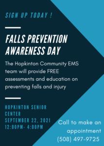 Hopkinton Fall Prevention flyer