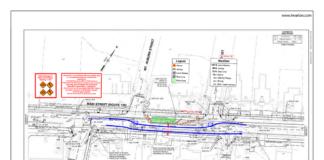Main Street work map